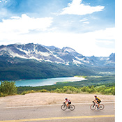 Glacier and Waterton biking photo